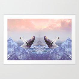 Mount Whales Art Print