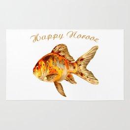 Elegant Happy Norooz Goldfish Persian New Year Rug