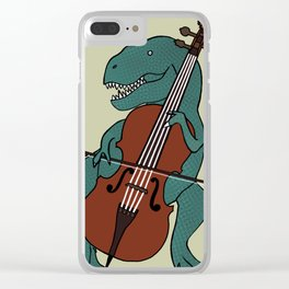T-Rex Double Bass Clear iPhone Case