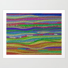Stripes Along Art Print