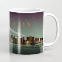 gotham Mugs featuring Gotham City by WyattDesign