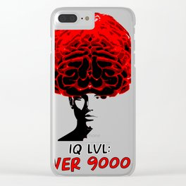 Iq lvl over 9000!!! Clear iPhone Case