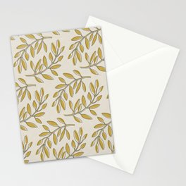 Leaves in Yellow and Cream Stationery Cards