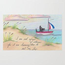 Sailing Scottie Rug