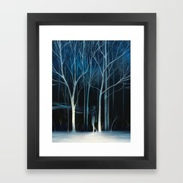sleeted Framed Art Print
