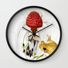 Mr Frog and the Toadstool. Wall Clock