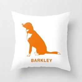 Barkley the Border Collie Throw Pillow