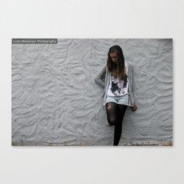 Artsy Grey Wall Canvas Print