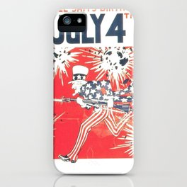 4th of July - Uncle Sam iPhone Case
