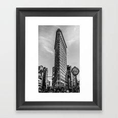 Flat Iron Vintage Framed Art Print
