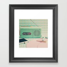 Retro Music Inspiration  Framed Art Print