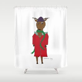 Diego the Deer in Winter Shower Curtain