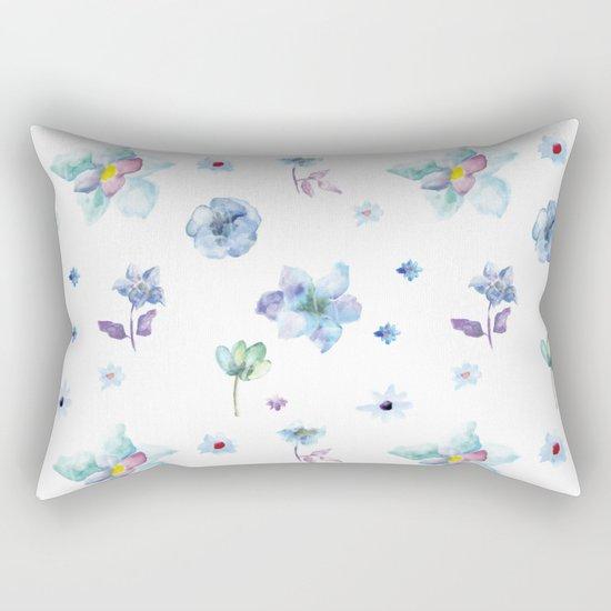 Delicate Floral Pattern 02 Rectangular Pillow