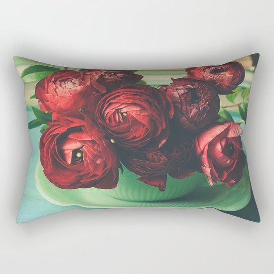 Books and Flowers Rectangular Pillow