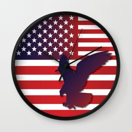 American flag eagle 2 Wall Clock