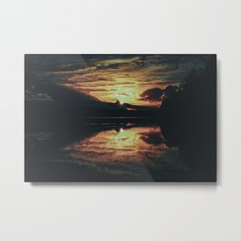 Sundown At Lake Heve 5 dark Metal Print