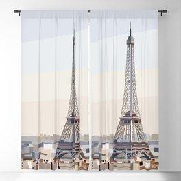 Geometric Eiffel Tower, Paris France Blackout Curtain