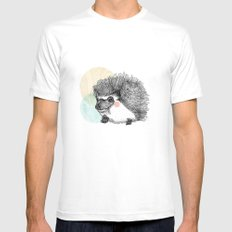 Hedgehog SMALL Mens Fitted Tee White