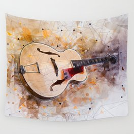Electric Guitar Art Wall Tapestry