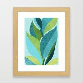 Toward The Light / Abstract Botanical Framed Art Print