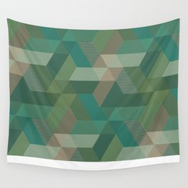 Patchwork Parallelograms Pattern Wall Tapestry