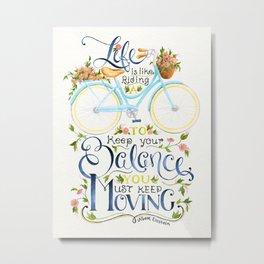 Like A Bicycle Metal Print