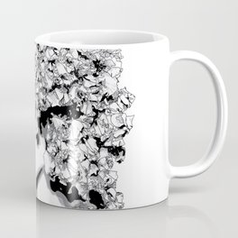 Fashion portrait illustration haute couture Valentino inspired design Coffee Mug