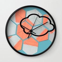 Cloud geometry Wall Clock