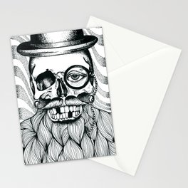 Mr. Skull Beard Stationery Cards