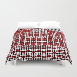 Pixel mosaic,red Duvet Cover
