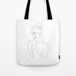 dissol - one line art Tote Bag