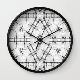La Tour Eiffel Kaleidoscope Photographic Pattern Wall Clock