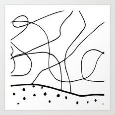 lines & dots Art Print