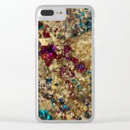 Golden Oil Slick Quartz Clear iPhone Case
