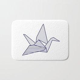 Swan, navy lines Bath Mat