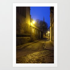 Ghostly streets of Oxford Art Print