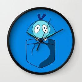 Aquamarine Pocket Tee Wall Clock