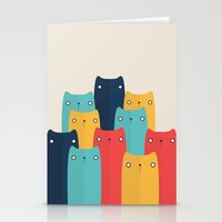 cats Stationery Cards featuring Cats by Volkan Dalyan