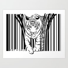 Tigers extinct in 12 years? Art Print