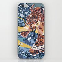 stockholm iPhone & iPod Skins featuring STOCKHOLM by C. Reeder