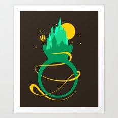 Emerald Ring Art Print