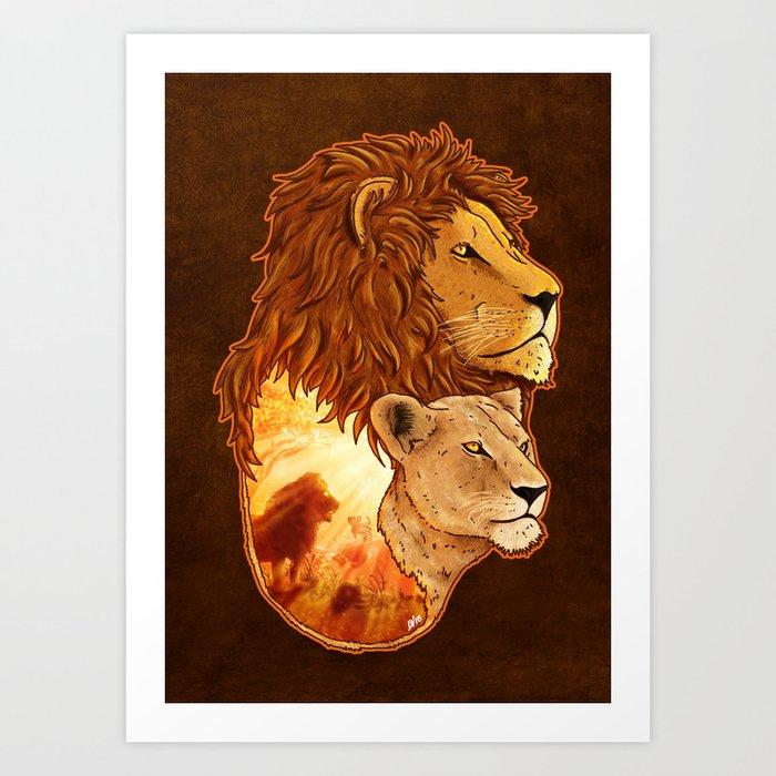 Lion Pride Art Print
