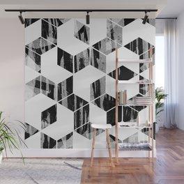 Elegant Black and White Geometric Design Wall Mural