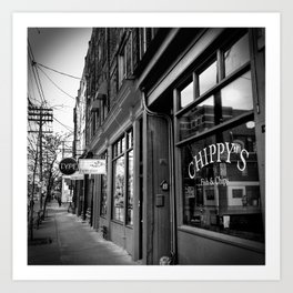 Storefronts Along Queen Street West in Toronto Art Print