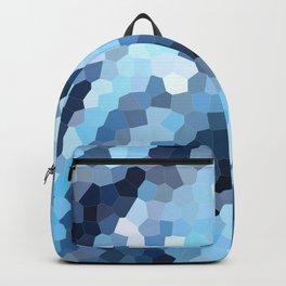 Blue Geometric Waves Backpack