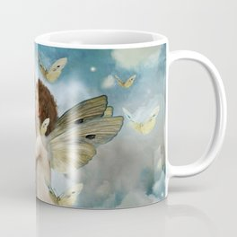 """Angels in love in heaven with butterflies"" Coffee Mug"