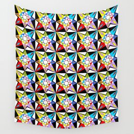 symetric patterns 81-mandala,geometric,rosace,harmony,star,symmetry Wall Tapestry