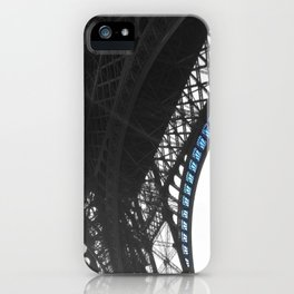 Eiffel tower Paris black and white with color iPhone Case