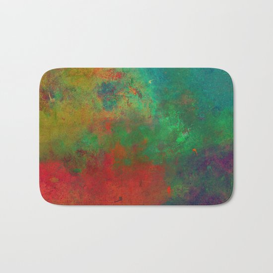 Lose Yourself In Colour (Abstract, textured painting) Bath Mat