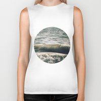 waves Biker Tanks featuring Waves by josemanuelerre